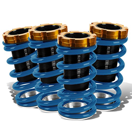 DNA Motoring COIL-HC88-T33-BL Suspension Coilover Sleeve Kit [For 88-01 Honda Civic Del Sol CRX Acura Integra]