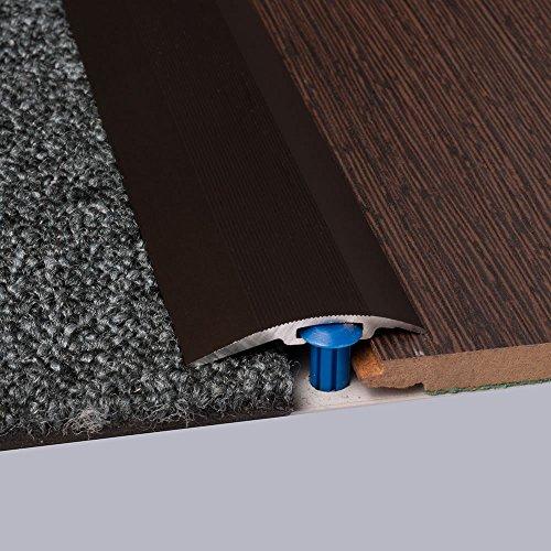 Laminat-Ausgleichsschiene Bronze eloxiert 900 mm, für 4 - 14 mm Höhenunterschied