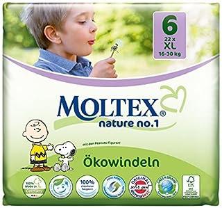 132 pcs Nature MOLTEX No1 funda de almohada de pañales XL