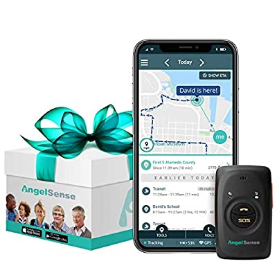 AngelSense Personal GPS Tracker for Kids, Teen, Autism, Special Needs, Elderly, Dementia | 2-Way Auto-Answer Speakerphone & SOS Button | School Bus Tracking | Easy-to-Use App