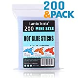 "200 Pack, 6"" Length and 0.27"" Diameter Mini Size Hot Glue Sticks, High Viscosity and Transparent, Use with All..."