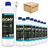 BiOHY Limpiador multiuso, Limpiador de alcohol, Limpiador universal (12 botellas de 1 litro) + Dosificador | Limpiador Profesional de Mantenimiento - Producto de Limpieza ecológico (Allzweckreiniger)