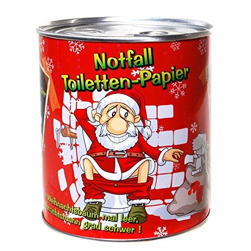 Udo Schmidt GmbH & Co Notfall Toilettenpapier Weihnachtsmann Geschenk Klopapier