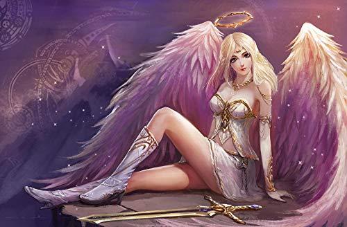 XHXYTSM Rompecabezas para adultos y niños 1000 piezas Serie de fantasía Style-Angel Girl Tangram de lógica de madera Super duro clásico Ocio y entretenimiento Juegos familiares Regalo creatividad