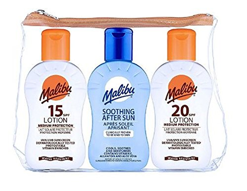 Exclusive Malibu Travel Bag Lotions 100ml x 3, Trending, Best Seller