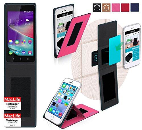 Hülle für Wiko Rainbow Lite 4G Tasche Cover Hülle Bumper | Pink | Testsieger