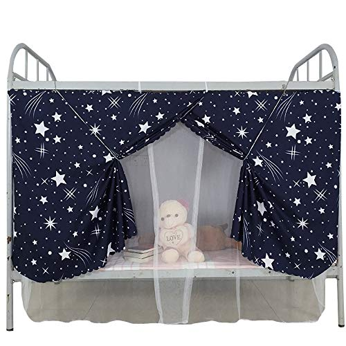 Kennedy Bottom Bunk Bed Canopy Mosquito Net Students Dormitory Single Bed Blackout Drapery, 2 in 1 Style,Color 5