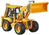 Bruder-02428 Excavadora con 2 Palas, Color Negro, Amarillo (2428)
