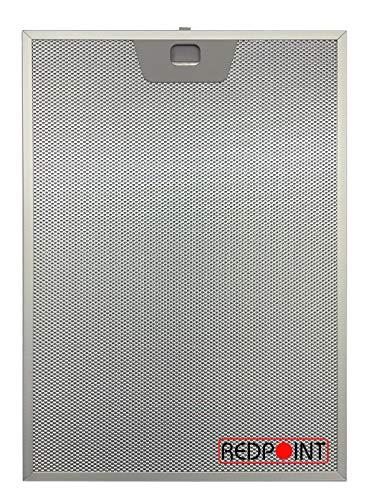Aluminium-Fettfilter Austauschfilter Dunstabzugshaube 252 x 363,5 x 8 mm, anpassbar: Faber 1330017056/133.0017.056