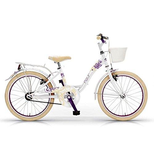 MBM 201/18 Fleur, Bicicletta da Trekking E Citta Unisex Bambini, Bianco A28, Taglia Unica