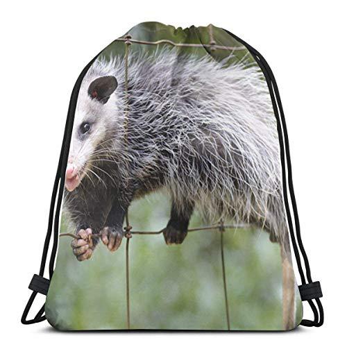 BXBX Trasportare Bags Opossum Drawstring Bag Rucksack Bags for Sports, Shopping, Travel, Yoga, Gift Goodie Bags