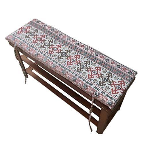 POETRY Terrace Swing Tatami Floor Cushion Long Bench Garden Chair Cushion with Fastening Laces Bench Cushions Outdoor Furniture Cushion (100x35x4cm)