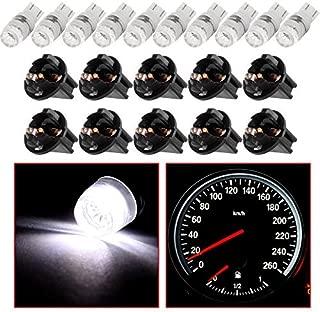 cciyu T10 W5W Wedge 194 LED Bulb w/Twist lock socket 168 LED Light Blub Replacement fit for Instrument Panel Dash Light,10 Pack