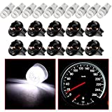 cciyu T10 W5W Wedge 194 LED Bulb w/Twist lock socket 168 LED Light Blub Replacement fit for Instrument Panel Dash Light,10 Pack