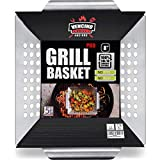 Small Grill Basket - Heavy Duty Stainless Steel Grilling Accessories,Grilling Wok for Vegetable,...