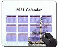 マウスパッド2021カレンダー、石の宗教スピリチュアリティマウスパッドマット