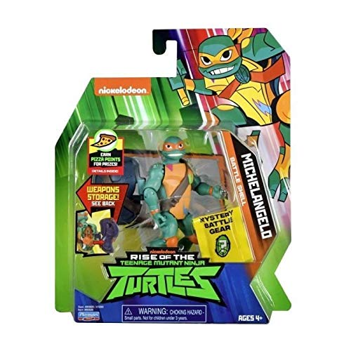 TMNT- Figura articulada con Accesorios – Mikey Carapace (G