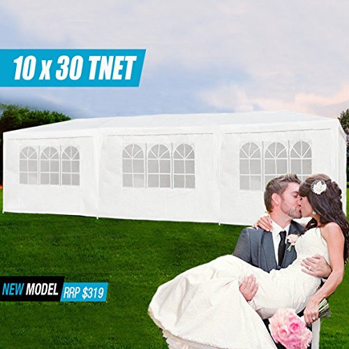 R Rothania 10'x30' Party Wedding Outdoor Patio Marquee Tent Canopy Gazebo Pavilion Event 5 Removable Walls