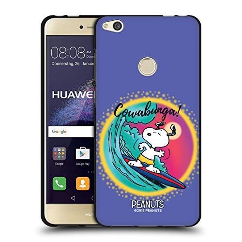 Head Case Designs Licenciado Oficialmente Peanuts Cowabunga Surf Aerógrafo Snoopy Boardwalk Funda de Gel Negro Compatible con Huawei P8 Lite (2017)