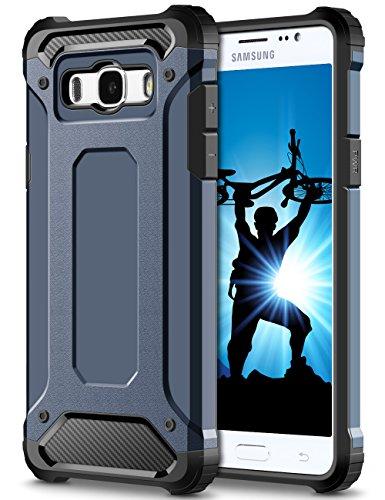 Coolden Samsung Galaxy J5 2016 Hülle, Premium [Armor Serie] Outdoor Stoßfest Schutzhülle Tough Silikon Bumper Militärstandard Handyhülle für Samsung Galaxy J5 DUOS 2016(Blau)