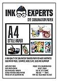 Ink Experts Subli-Style Papel de sublimación (A4, 120 g/m²) 100 Sheets
