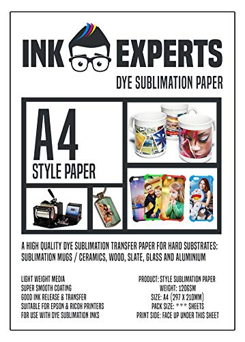 Ink Experts Subli-Style A4, Sublimationspapier, 120g/m² 100 Sheets