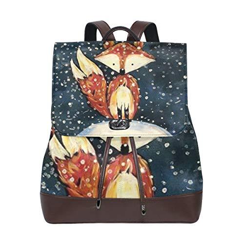 Rucksack Rucksack Perfekt für die Schule Winter Schnee Niedliches Tier für Mann Jungen Mädchen Frau Reise Kindertagesstätte