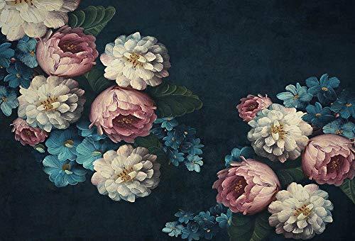Fondo de fotografía Pintura al óleo Textura de Flores Resumen Floral Retrato de bebé recién Nacido Estudio fotográfico Telón de Fondo A1 9x6ft / 2.7x1.8m