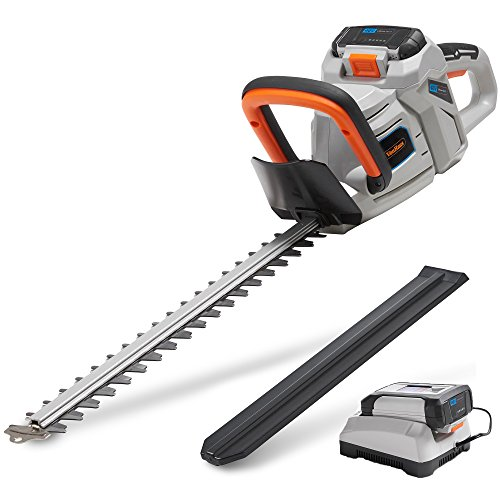 "VonHaus 40V Max 20"" Dual Action Cordless Hedge Trimmer with 2.0Ah Lithium-Ion Battery and Charger Kit Included"
