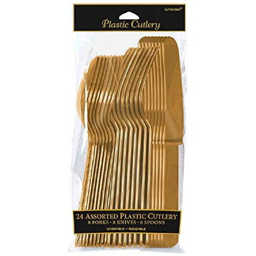 Premium Besteck-Sortiment, gold, 24 Stk.