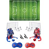 TGQ KIDZ Soccer Robot Toys - Remote Control Robot Intelligent Programming Soccer Games - Robot Game with 2 Player Remote Controls - Kids Interactive Toys - Kids Educational Toys for Gifts