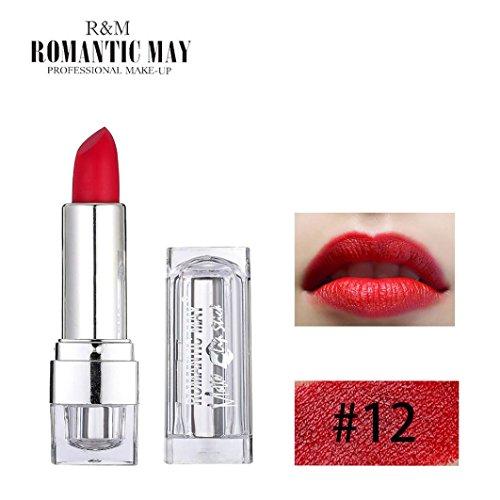 Gaddrt Romantic May Lipstick Waterproof Long Lasting Matte Lip Cosmetic Beauty Makeup Gift 18g (L)