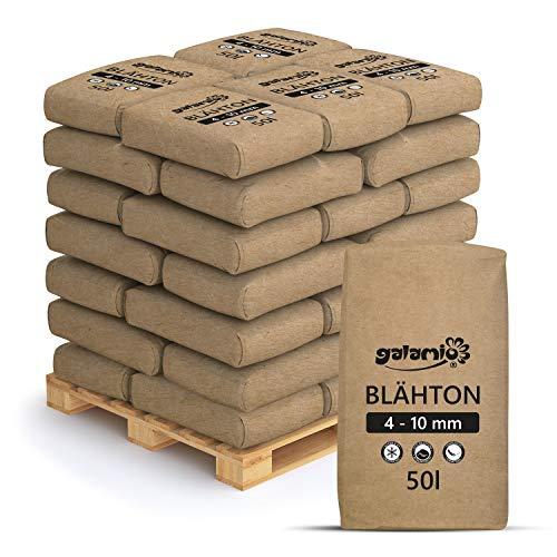 PALIGO Blähton Keramsit Pflanz Granulat Ton Steine Lava Mulch Drainage Hydro Kultur Substrat Trocken Schüttung Dämmung Fein 4-10mm 50l x 39 Sack 1.950l / 1 Palette Galamio