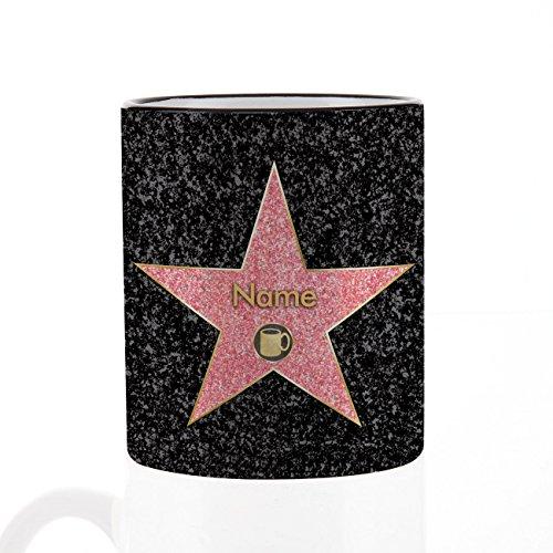 Herz & Heim® Kaffee Becher - Walk of Fame - mit Ihrem gewünschten Namen