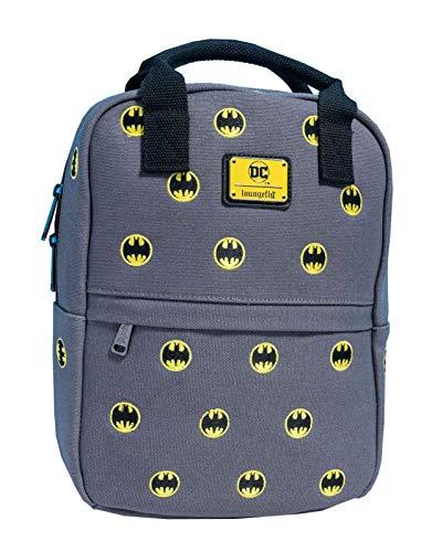 Loungefly x DC Comics Batman Bat-Signal Embroidered Canvas Mini Backpack