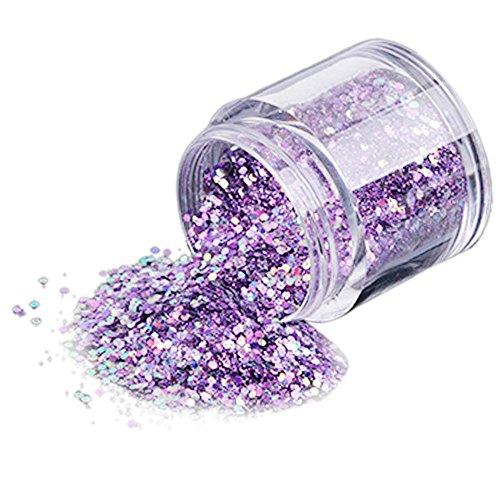 Hermione Hosmer 10g / BoîTe Ongle Art Miroir Pigment Poudre Ongles Paillettes Dip Poudre Or Rose Brillant Chrome Poudre DéCoration Uv Gel Vernis Manucure B-Purple