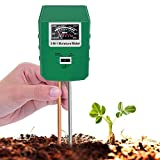 INCLOENI Soil Tester, 3 in 1 Soil Test Kit for Moisture, Light & pH Meter for Plant,Suitable for Garden, Lawn, Farm, Indoor/Outdoor Moisture Meter for Plants (No Battery Need & Latest Update)(Green)