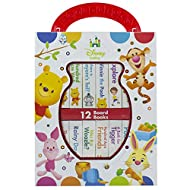 Disney Baby - Winnie the Pooh - My First Library Board Book Block 12-Book Set - First Words, Countin...
