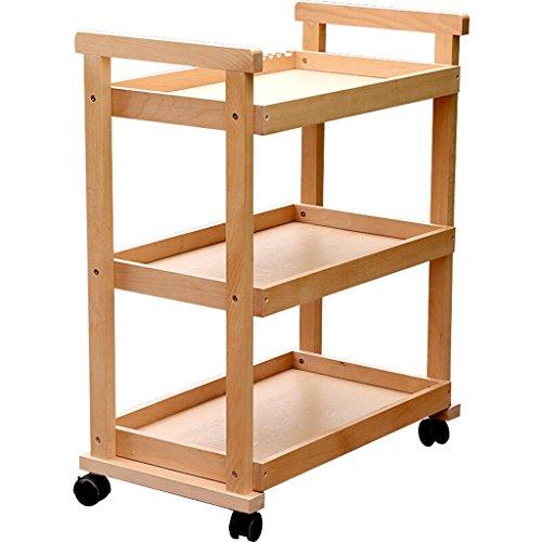 Trre@ Main Truck/Red Oak Universal Roue Simple Trois-couche Huile Panier/Peinture Plate-forme Image Cabinet/Peinture à l'huile Cadre Art Fournitures Quatre Ronds Peinture Voiture/Charge 30 Kg