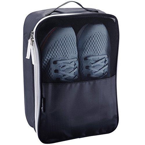 Alpamayo®Schuhbeutel, Schuhtasche für Reise oder Sport, Schuhsack zum Transport von Schuhen in Koffer, Handgepäck oder Trolley, schwarz