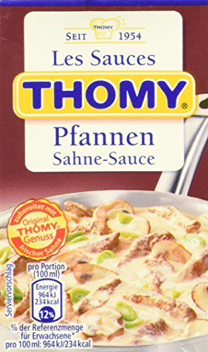 Thomy Les Sauces Pfannen-Sahne-Sauce, 12er Pack (12 x 250 ml)