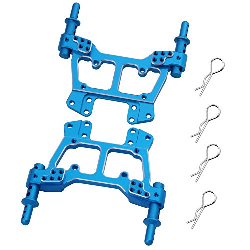 Hobbypark 188822 Aluminum Shock Tower Front / Rear with Body Post 188837 Clips Pins 188022 for 1/10 Redcat Volcano EPX / Pro Upgrade Parts Monster Truck HSP Brontosaurus
