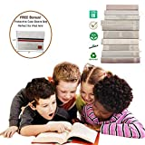White Book Covers for Textbooks 2020 Latest Version Stretchable...