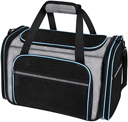 MASKEYON Airline Approved Large Soft Sided Collapsible Pet Travel Carrier for Dog Puppy Cats product image
