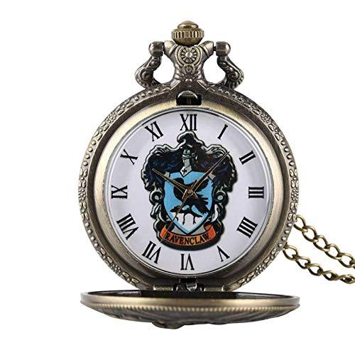 J-Love Reloj Bolsillo Cuarzo Retro, Collar, Cadena, Reloj Fob para Hombres, Mujeres, Regalos Navidad para Amigos