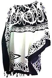 Coole Kaftane New Roman Sommer Kaftan Kaftan Top Poncho Tunika-Shirt Celtic Strand