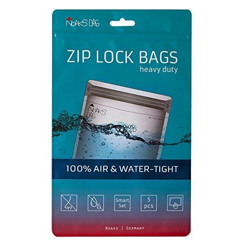 Noaks Bag Smart Set | 5 Bags [1 x XS / 2 x S / 2 x M] | Schutzhülle, Zip-Beutel, Dry-Bag | 100% wasserdicht, geruchsdicht & sicher | Für Urlaub, Sport & Reisen | Das Original