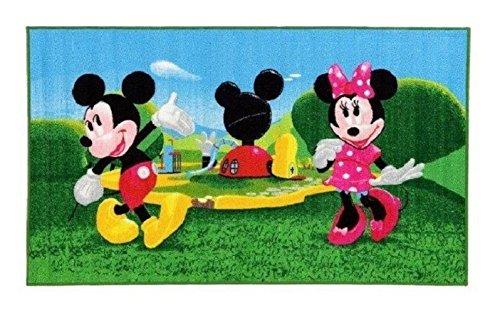 Micky Maus Wunderhaus Maus getanzt - Minnie Maus - Kinder Teppich Kinderteppich mit Micky Mouse und Minnie Mouse / Kinderspielteppich / Kinderteppich / Wandteppich /Micky Maus und Minnie Maus / Wunderhouse / Wunderhaus / Dieser wunderschöne und Kinderteppich mit Micky ist in der Größe 80 x 140 cm und 170 x 100 cm erhältlich (80 x140 cm)