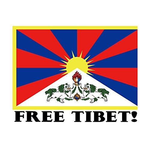 EvolveFish Free Tibet Autoaufkleber, 12,7 x 10,2 cm