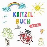 Kritzelbuch ab 1 Jahr: Erstes dickes Ausmalbuch mit 50 tollen Motiven zum Kritzeln, Ausmalen und Lernen der ersten Gegenstände für kreative Kinder